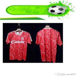 2019 ropa de uniforme Liverpool 1989 Retro Versión Pool Candy Home Soccer camiseta 89/91 Colección Rojo Ropa deportiva Personalizada Uniformes de fútbol rebajas ropa de uniforme