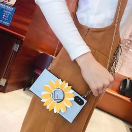 2019 telefone impresso 3d 3d girassol capa de couro de volta chapeamento impresso letra f flor coldre phone case pulseira de ombro pulseira para iphone xs max xr x 7 8 6 além de desconto telefone impresso 3d