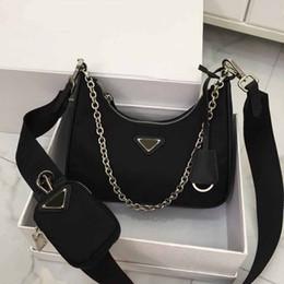 halloween totes vuoto Sconti 2019 Top designer borse di lusso di qualità delle donne dei sacchetti della borsa Hobo Combo nylon borsa di tela a tracolla della borsa crossbody raccoglitore della catena PRD Miland