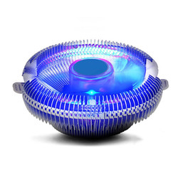 1155 fan online-Universal 12V DC CPU Fan Cooler Disipador de calor para Intel Socket LGA 1155 1156 775 HOT
