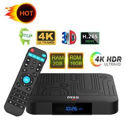2019 mx tv box quad core Amlogic S905W M9S W1 16 Go TV Box Quad-core Android 7.1 TV Streaming Box M9S W1 mieux que MXQ TX6 TX6 X96 TV Box IP bonne qualité