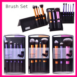 32pcs rosa schwarze make-up pinsel set Rabatt Brand Real Make-up Pinsel Starter Kit Modellierpulver Sam's Picks Blush Foundation Flachcreme Pinsel Set