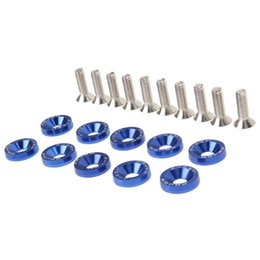 car bolts Promo Codes - auto bolt VODOOL 5 Colors Screws JDM Nuts Bolts Auto Repacking Front Rear Bumper Water Tank Car Decoration Screw Bonnet Gasket Valve Cover