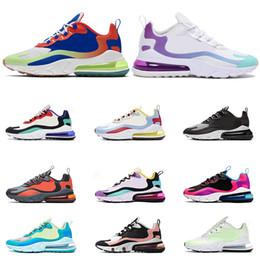 nike air max 270 react Schuhe für Herren von höchster Qualität, atmungsaktiv, ELECTRO GREEN BLUE VOID Fashion Damen Sneakers, Sportgröße 36 45