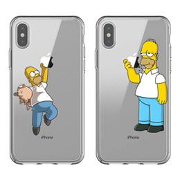 2019 funda iphone cocodrilo billetera Divertido Simpson Coma logotipo de Apple Moda de silicona suave TPU teléfonos Fundas para el iPhone 5S 11 Pro MAX 6 7 6SPlus 8Plus X10 XR XS MAX
