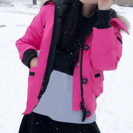 Bonnes marques de manteaux d'hiver en Ligne-Hiver Bas Veste À Capuche Femmes Bomber Chaud Manteau Bomber Femme Marque Designer Extérieur Vestes Parkas Bonne Vente De Haute Qualité