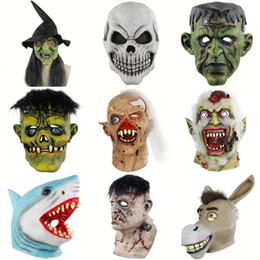 2019 máscaras de payaso espeluznantes Halloween Joker Payaso Disfraz Máscara Creepy Evil Scary Clown Mask Adulto Fantasma Suministros Festivos máscaras de payaso espeluznantes baratos