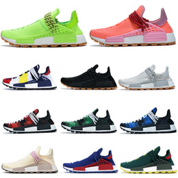 men trainers canvas Coupons - With box NMD Human Race know soul men women running shoes infinite species BBC Pharrell Williams Sun Glow oreo yellow mens trainers