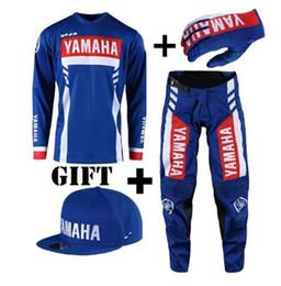 Combinazioni di vestiti online-TOP Motocross Tute da corsa Moto MX DH MTB maglia da equitazione e pantaloni Per combinazione yamaha Set CALDI S-XXL