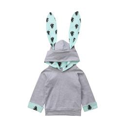 2019 sweatshirt kaninchen ohr Mädchen Langarm Sweatshirts Mit Kapuze Kaninchenohren Form Einfarbig Baumwolle Schöne Schnell Trocknende Freizeit Halten Warm 24 günstig sweatshirt kaninchen ohr