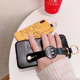 telefongehäuse für paare Rabatt Neuer S4 Handy Fall Wristband Smiley schönes Paar High-End Handy Fall für iPhoneX XS XSMAX