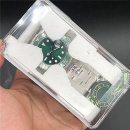 ARF 316L Стальные Роскошные Часы 40 мм Зеленый Циферблат Керамическая Рамка Наручные Часы 116610 Mingzhu 2813 Механизм Автоматические Водонепроницаемые мужские Часы cheap men s green watch от Поставщики мужские зеленые часы