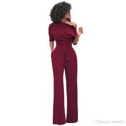 Canada Nouvelle Mode De L'épaule Élégant Combinaisons Femmes Plus La Taille Barboteuses Femmes Combinaisons À Manches Courtes Femme Salopette cheap elegant jumpsuits sleeves Offre