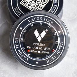 2019 alambre calibre 26 calibre 100% Auténtico Vapor Tech A1 Cable 30 pies 30 pies AWG 24 g 26 g 28 g 30 g 32 g Calibrador para RDA RBA Vape