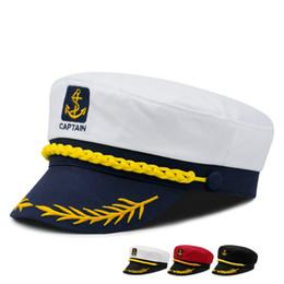 59ce58ce1f048 captain cap white Coupons - Outdoor Children Sailor Ship Boat Captain Hat  Retro Men And Women