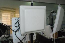 uhf rfid antenna Sconti Lettore di schede RFID UHF 6m a lungo raggio, antenna 8dbi RS232 / RS485 / Wiegand Lettura lettore UHF 6M integrativo