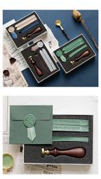 Bomboniere creative Bomboniere con sigillo Set con nastri Accessori per inviti matrimonio fai da te Sei colori Drop Shipping da