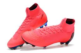 Botas de fútbol originales de colores rosados Mercurial Superfly VI 360 Elite FG Zapatillas de fútbol para niños al aire libre Soft Spike Game Over Womens Soccer Cleats desde fabricantes