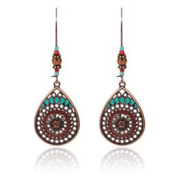 Vintage Boho India acqua etnica gocciolare appeso ciondola gli orecchini per le donne femminili nuovi accessori per le feste di nozze da