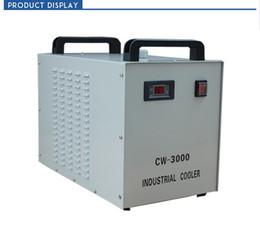 2019 tavola rotonda lineare Refrigeratore di acqua industriale CW3000 per il tubo laser DG110V AG220V della tagliatrice 60W 80W dell'incisione laser di CO2