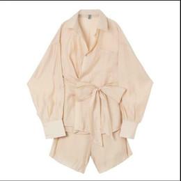 Pantaloni corti degli uomini coreani di modo online-meglio della moda estate qualità uomini allentato coreano abito camicia a maniche lunghe + bf pantaloni a gamba larga pantaloncini