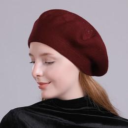 2019 chapéu francês do beanie Maxi de alta qualidade das mulheres boina de perfuração quente Rhinestone decoração de lã francês Beanie Cap Hat cores diferentes combinar com qualquer um dos seus equipamentos desconto chapéu francês do beanie