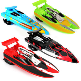 rc toy racing Promo Codes - 4 Colors Streamline Body RC Speed Boat with Cool Design Powerful Engine Kids Children Racing Boat Navigation Toy LA251