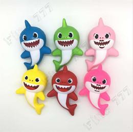 jouets de compression pour les enfants Promotion 14CM bébé requin Squishy PU Squishies Slow Rising Jumbo Stress Soulager Multicolor Enfants Squeeze Jouets Enfants Decompression jouets pour enfants