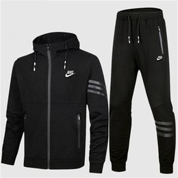 zip suits Promo Codes - Autumn Tracksuits For Men Brand Designer Coats Tops&Pants Suits Logo Fashion Luxury Men Hoodies Sweatshirts Zipped Mens Clothing.B100780Y