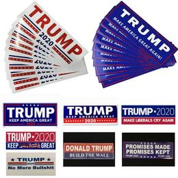 ленточные баннеры Скидка 10шт / комплект Donald Trump 2020 автомобиля наклейки бампер наклейка Keep America Сделать Great Наклейка для автомобиля Стайлинг автомобиля Пастера 7,6 * 22,9 WX9-1387