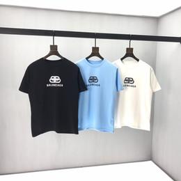 Painel de classificação de cor on-line-2020ss primavera e algodão novo alto grau de verão impressão de manga curta rodada painel pescoço t-shirt Tamanho: m-l-xl-XXL-XXXL Cor: 0q18 preto branco