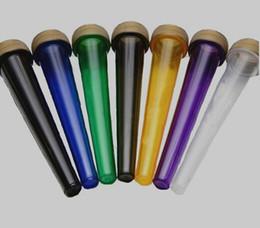 Wholesale 98mm mm pré tubo de cone enrolado CR cap criança resistente ao vício doob food grade PP frasco claro preto verde azul roxo cor