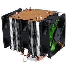 lichtheizkörper Rabatt LANSHUO Pure Kupfer 4 Heatpipe für 1366 1155 775 Intel / AMD Multi-Plattform-CPU-Kühler 3-Draht ohne Licht drei Lüfter