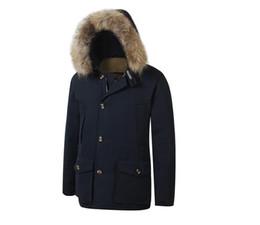 homens, s, ártico, parka Desconto Arctic de Down Parka de 2020 New Men Mens Com Big Removeable Raccoon Fur casaco quente Casaco de Inverno