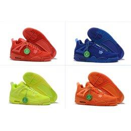 nuove tessiture a buon mercato Sconti A buon mercato 2019 New 4s Uomo Sport scarpe da basket basket Hyper Royal Total Orange Università Red Volt Fashion Sneakers Eur Size 40-46