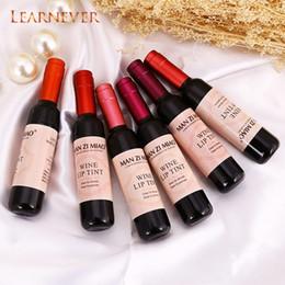 Maquillaje rosa bebé online-Learnever Cosmética coreana Forma de vino tinto Labio Tinte Labio rosado para mujeres Batom Maquillaje Lápiz labial líquido Lápiz labial Maquillaje Cosmético