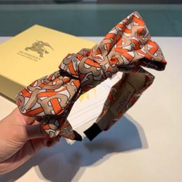 Aros bufanda online-Diadema de seda de aro de pelo de lujo para mujer Diademas anudadas de diseño fresco de verano Bufanda de cabeza de alta calidad Accesorios para la cabeza Accesorios de envío directo