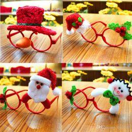 Brinquedos noturnos on-line-Enfeites de natal Óculos Frames Decor Festa À Noite Toy kids Coelho Presentes
