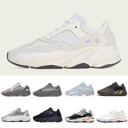 Argentina Kanye West 700s V2 Vanta Wave Runner zapatos para correr para hombre para mujer Deportes estáticos zapatillas de deporte de color malva gris sólido diseñador de lujo zapatos tamaño 36-46 cheap solid color running shoes Suministro