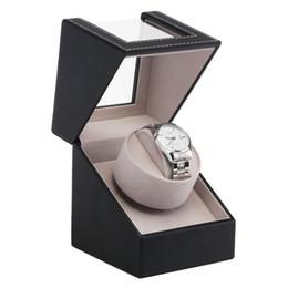 Cajas de liquidación online-High Class Motor Shaker Watch Winder Holder Display Joyería Caja de Relojes Automáticos Reloj Mecánico Automático Winding Box