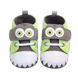 Algodão patch tecidos on-line-Sapatas Da Menina do Menino do bebê Não-deslizamento Macio-sola Sapatos Da Criança Tecido De Algodão Sólida HookLoop Patch Princesa Primeiros Caminhantes