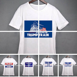 Amerikanische flagge hemd shorts online-women Donald Trump Train 2020 T-Shirt O-Neck Short Sleeve Shirt USA Flag Keep American Great letter Tops Tee Shirt LJJA3834