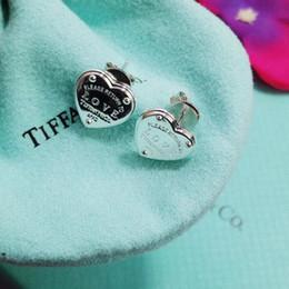 orecchini a forma di Sconti Gioiello da donna 2019 classico della moda caldo sui nuovi eleganti orecchini a cuore semplici