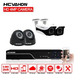 kits de systèmes de sécurité Promotion HCVAHDN Home Security AHD 4MP CCTV SYSTÈME 4CH Hybride 4PCS 4.0MP Caméra Home Security CCTV Kits NO HDD Sortie HDMI Vision Nocturne