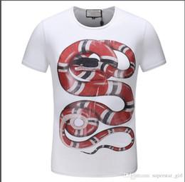 2019 meilleurs t-shirts imprimés 19SS été Styliste hommes Marque T-shirt T-shirt jardin lettre animal serpent 3D print t-shirt à manches courtes T-shirts Top Casual meilleure qualité promotion meilleurs t-shirts imprimés
