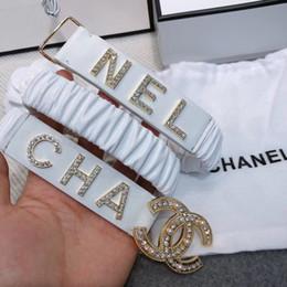 Canada 2019 nouvelle ceinture en cristal de boucle de dames de mode, ceinture sauvage de dames avec ceinture Offre