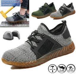 Leichte stiefel für männer online-Leichte Herren-Sicherheitsarbeitsschuhe mit Stahlkappe und unverwüstlichen Mesh-Sneakers