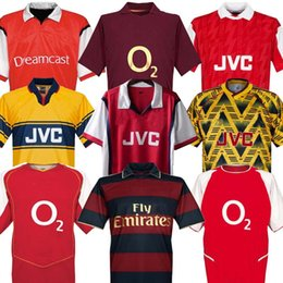 2020 maillot de foot long HIGHBURY ACCUEIL DE FOOTBALL T-SHIRT JERSEY FOOTBALL PIRES HENRY REYES 2002 04 Retro JERSEY 2005 06 98 99 94 95 BERGKAMP ADAMS à manches longues 96 97 Galla promotion maillot de foot long