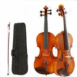 2019 pintura a óleo instrumento 4/4 Violino Artesanal Pintura A Óleo Adulto Instrumento Musical Ebony Maple Spruce Touca de Proteção Ambiental v009 pintura a óleo instrumento barato