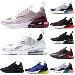 Giallo corallo online-Nike Air Max 270 Shoes Uomini Running Shoes Throwback Future Coral Stardust Warriors Triple Nero Core Bianco Donne Mens Trainer Sport Sneakers 36-45 Spedizione Gratuita